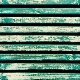 Horizontal aquamarine wooden slats background
