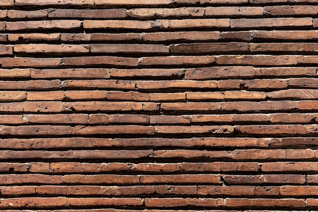 Horizontal brown brick wall background
