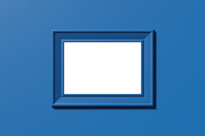 가로 프레임. 이미지, 사진, 텍스트 템플릿. 3d 렌더링