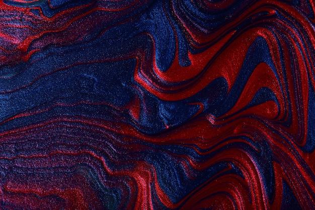 Горизонтальные мерцающие синий и красный абстрактный фон составляют концепцию