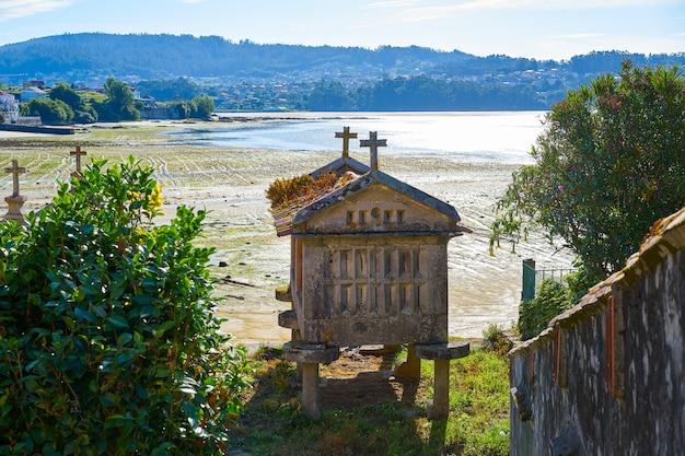 Horreo in combarro village pontevedra galicia spain