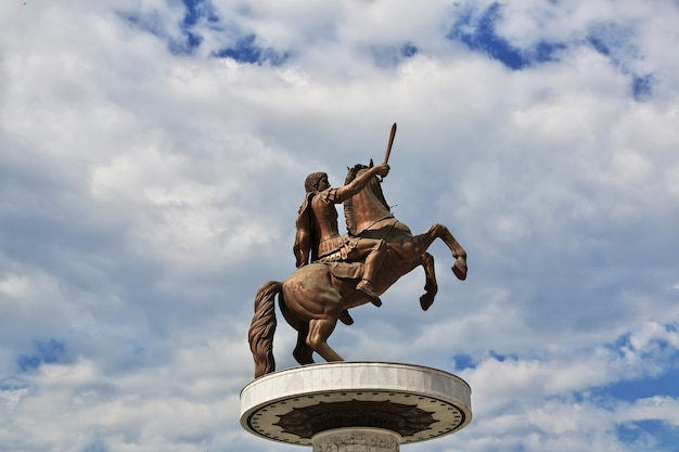 Horse monument in skopje in macedonia