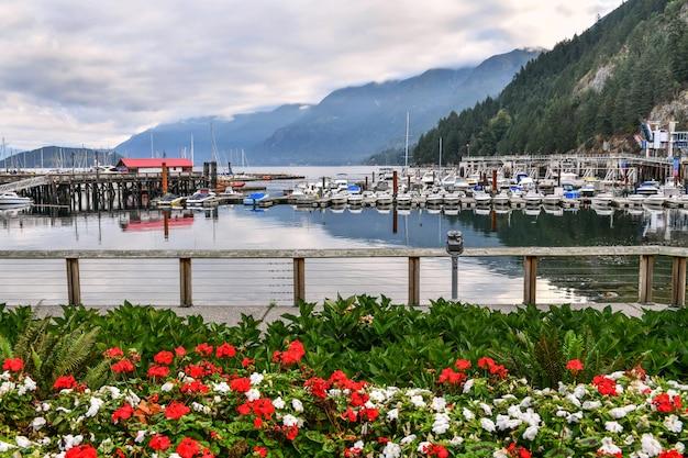 Horseshoe bay vancouver marina parking of boats and yachts bc  canada