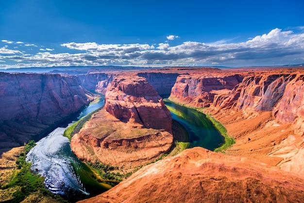 Horseshoe bend page, аризона, большой каньон, соединенные штаты америки