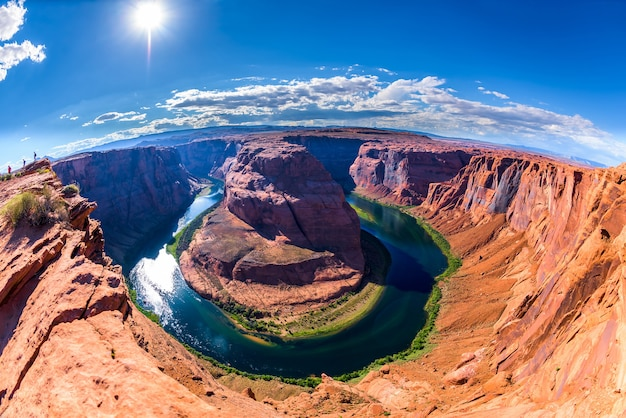 ホースシューベンドページ、アリゾナ州、グランドキャニオン、アメリカ合衆国