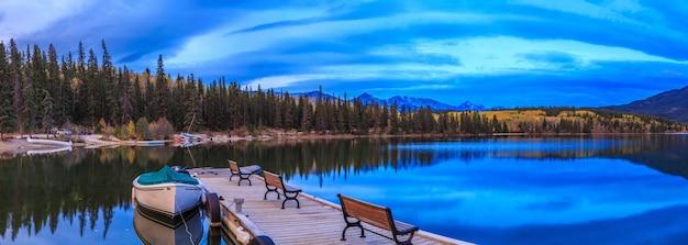 Horseshoe lake jasper national park alberta canada