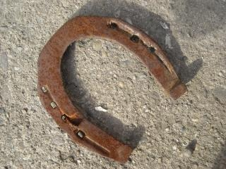 Horseshoe, rusted