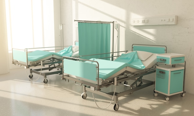 Hospital room two beds