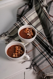 Hot cacao with marshmallow