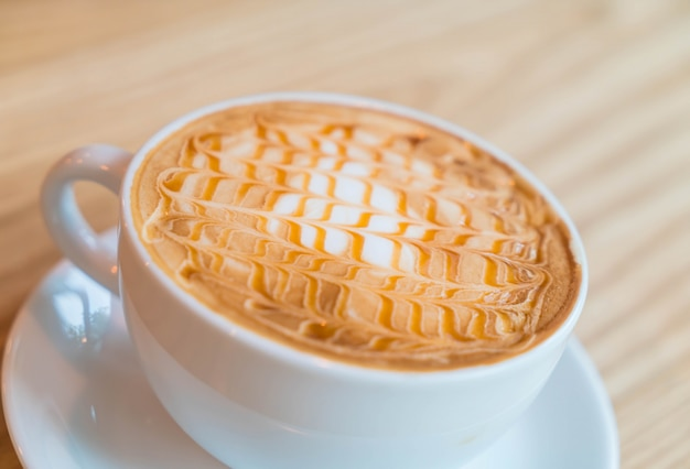 Hot caramel macchiato