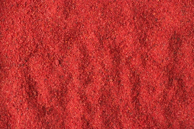 Hot chili pepper powder spice as a background, natural seasoning texture