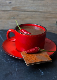Hot chocolate with pepper