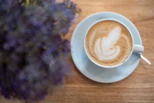 Hot coffee latte art