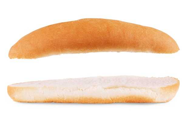 Булочки для хот-догов. изолированные на белом фоне