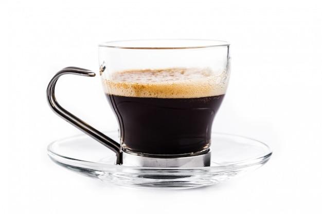 Стакан горячего кофе эспрессо