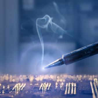 Hot iron solder