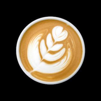 Hot latte art texture hot coffee background