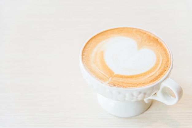 Hot latte coffee cup