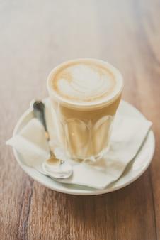 Горячий латте кофе