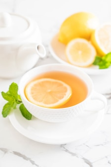 Hot lemon tea