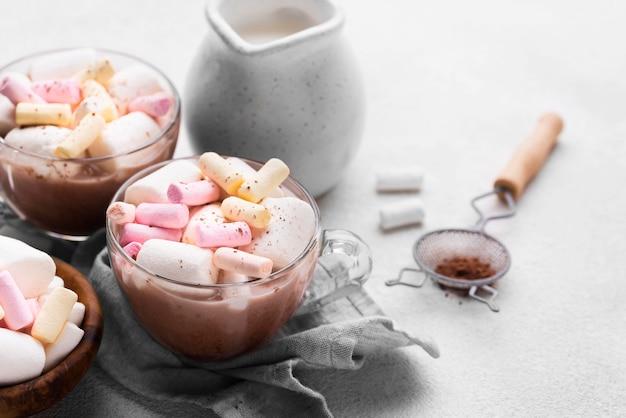 Hot marshmallow drinks
