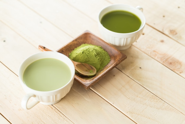 Hot matcha latte