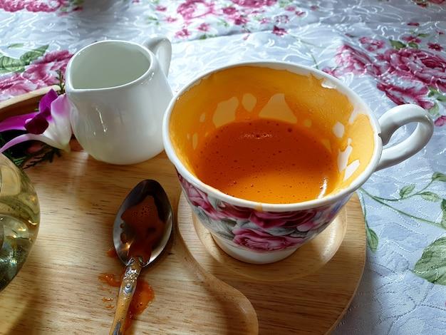 Hot milk tea half cup