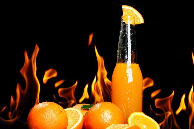Hot orange drink
