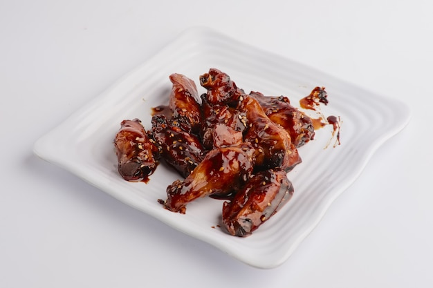 Hot spicy fried chicken wings