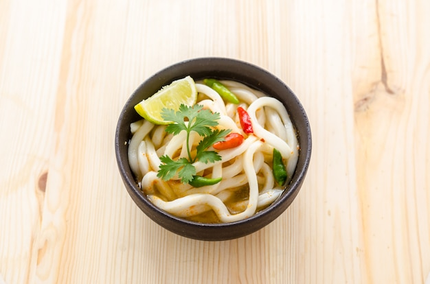 Hot and spicy udon noodle
