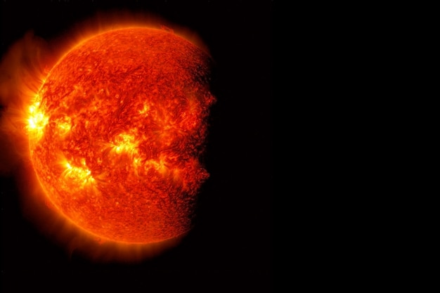 Hot sun background with the storms elements of this image were furnished by nasa