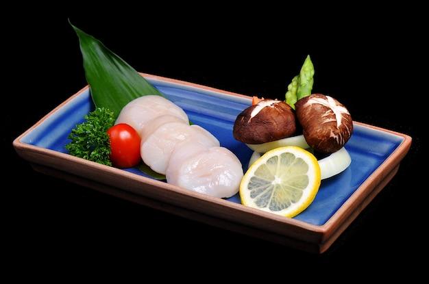 Hotate shell teppanyaki set