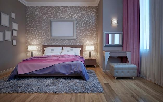 화장대가있는 호텔 침실