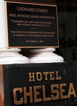 Hotel chelsea sign in manhattan, new york city, u.s.a.