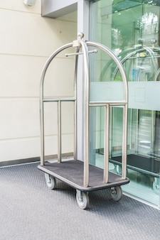 Hotel luxury trolley for transfer suitcase .