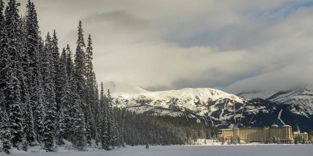 Hotel resort, lake louise, banff national park, alberta, canada