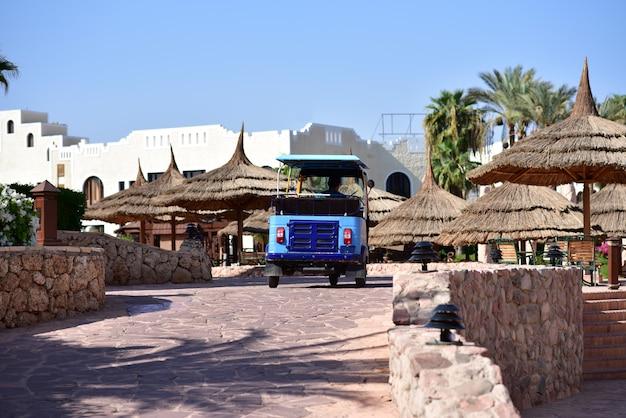 Hotel transport rides around the hotel in africa