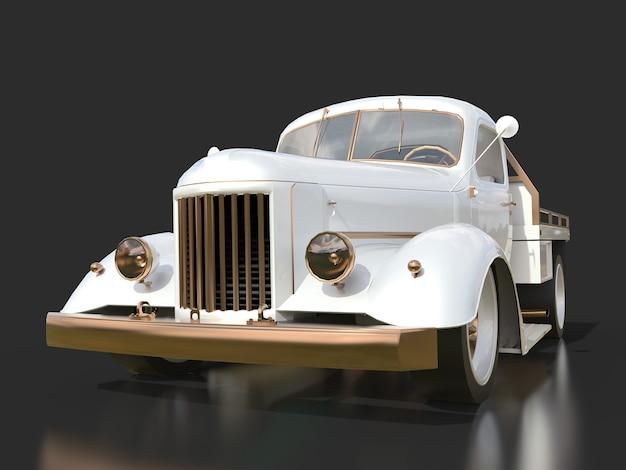 핫로드 트럭. 3d 렌더링.