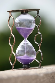 Hourglass counting down the time remaining