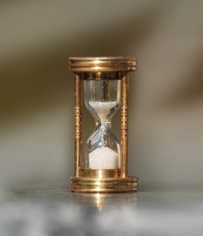 Hourglass shows that time goes by