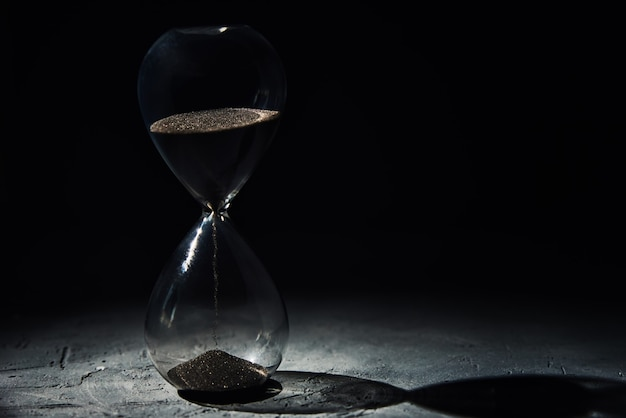 Hourglass with copy space