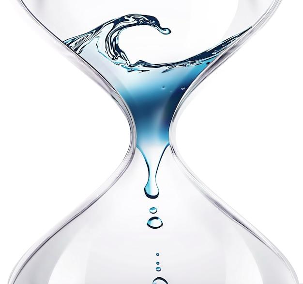 Песочные часы с капающей водой крупным планом