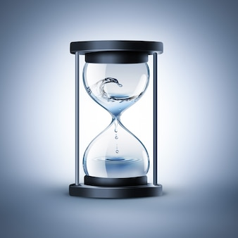 Песочные часы с капающей водой время течет концепция