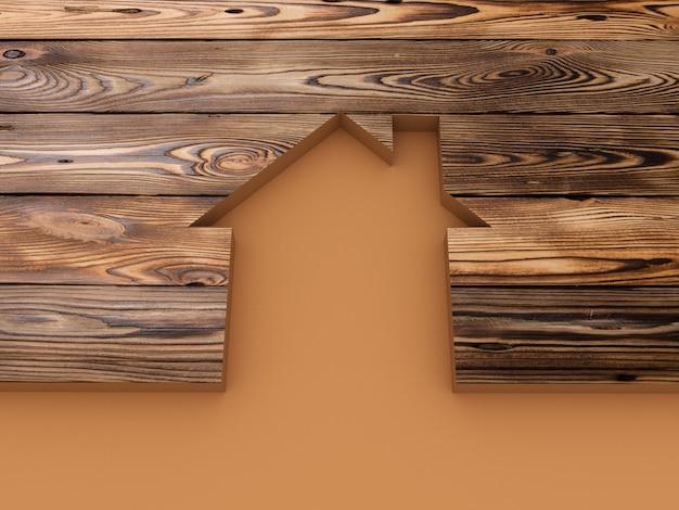 Дом абстрактный деревянный