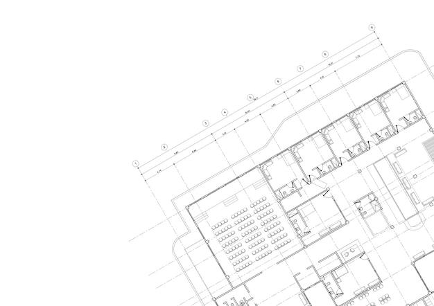 Дом архитектурный проект эскиз 3d иллюстрации