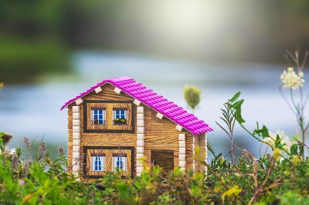 環境にやさしいエリアの川沿いの家 Premium写真