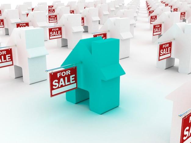 Дом цветной на продажу, 3d визуализация