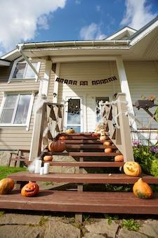 Дом украшен для хэллоуина