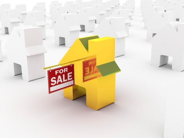 ハウスゴールドの販売、3dレンダリング