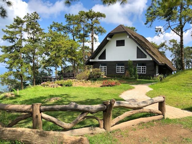 A house huai nam dang national park, chiang mai, thailand